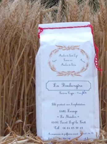 Farine boulangère artisanale sur meule Orléans, Loiret - moulin de la Beauce