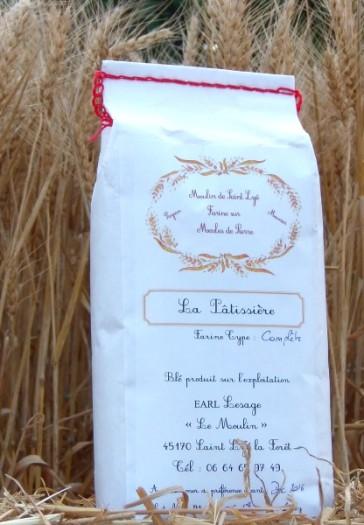Farine pâtissière - Meunerie artisanale sur meule de pierre