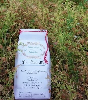 Fleurs et gousses de lentilles - Farine artisanale - Orléans